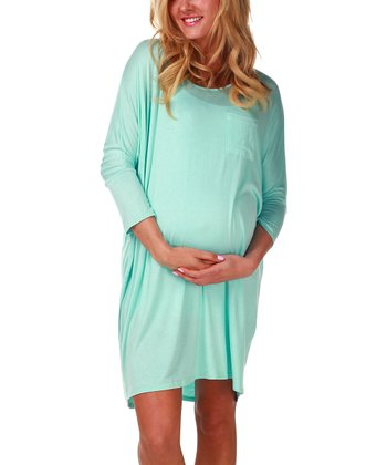 PinkBlush Maternity Mint Green Maternity Nightgown