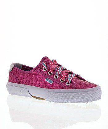 Hot Pink Sequin Sneaker