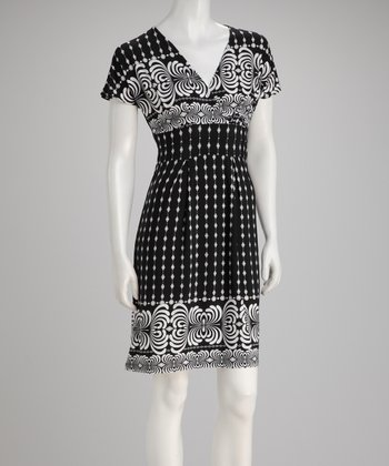 Black & White Empire-Waist Dress