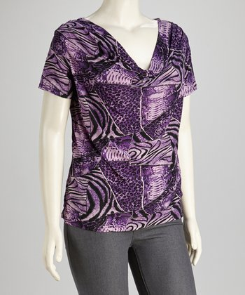Purple Drape Top - Women & Plus