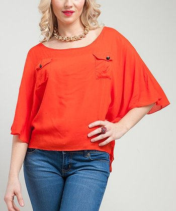 Red Asymmetrical Top