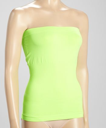 Neon Lime Seamless Strapless Top - Women