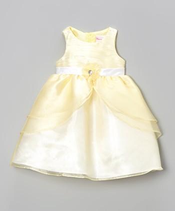 Yellow & Light Pastel Babydoll Dress - Infant, Toddler & Girls