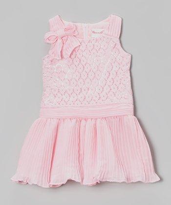 Pink Crochet Drop-Waist Dress - Toddler & Girls