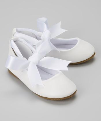White Bow Ballet Flat