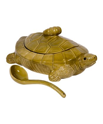 Home Essentials & Beyond Turtle Soup Tureen & Ladle
