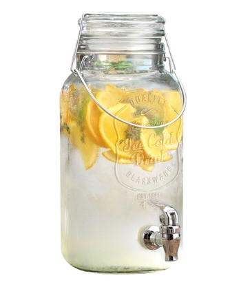 Del Sol Mason Jar 3-L Drink Dispenser