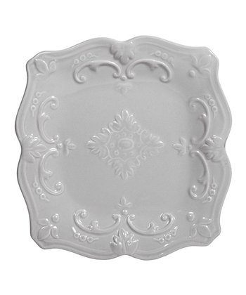 Gray 8'' Square Salad Plate