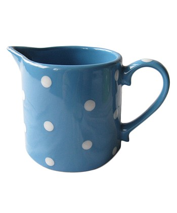 Home Essentials Turquoise Polka Dot Sugar Bowl