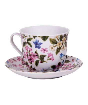 Dog Rose Teacup & Saucer