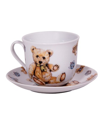 Teddy Bear Teacup & Saucer