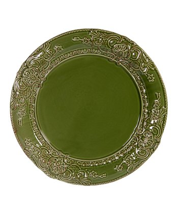 Green Tuscan Antique Bar 13'' Round Platter