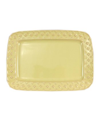 Yellow Petit Fleur 12'' Rectangle Platter