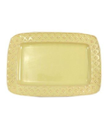 Yellow Petit Fleur 14'' Rectangle Platter