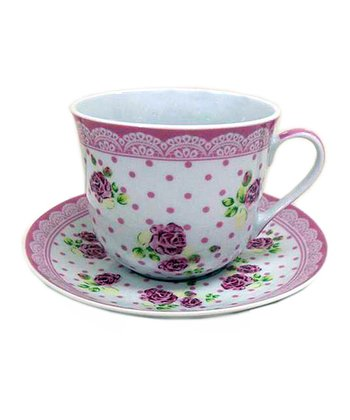 English Rose Teacup & Saucer