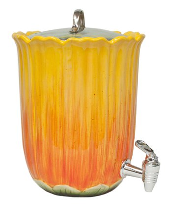 Yellow Sunflower 1.4-Gal. Beverage Dispenser