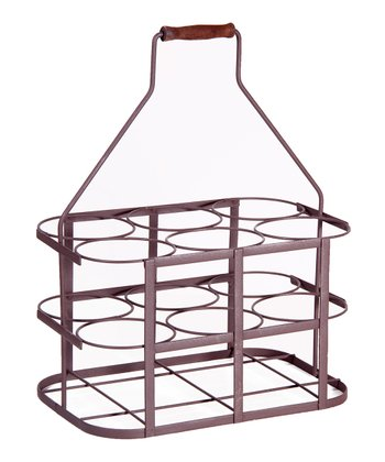 French Wire Iron Six-Bottle Holder