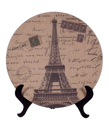 Vintage Eiffel Tower Decorative Plate