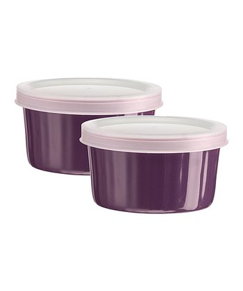 Large Purple Ramekin - Set of Two