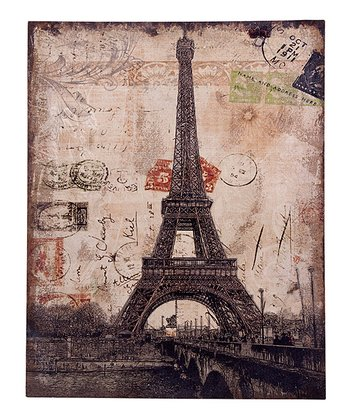Eiffel Tower Linen Wall Art