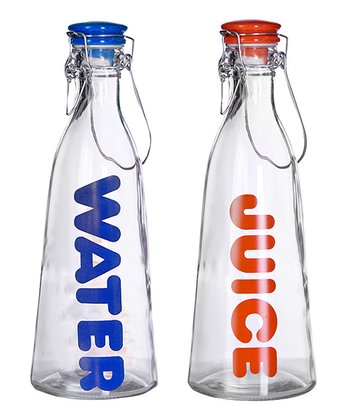 'Juice' & 'Water' Bottle Set