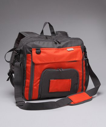 Orange Square Diaper Bag