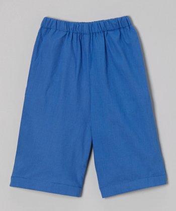 Navy Ruffle Shorts - Toddler & Boys
