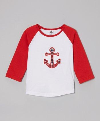 Red & White Anchor Raglan Tee - Toddler &