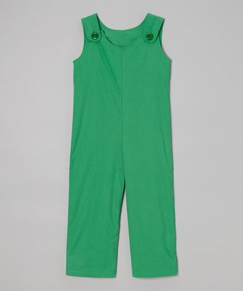 Green Overalls - Toddler & Boys
