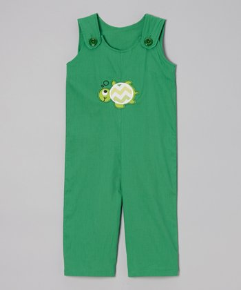 Green Turtle Overalls - Toddler & Boys