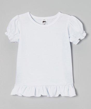 White Puff-Sleeve Tee - Toddler & Girls