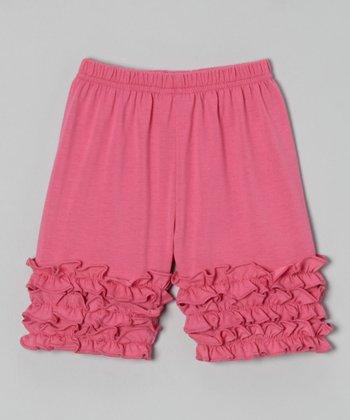 Pink Ruffle Shorts - Toddler & Girls