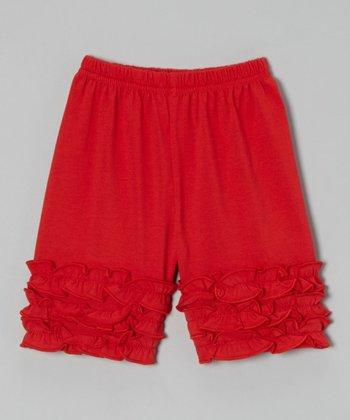 Red Ruffle Shorts - Toddler & Girls
