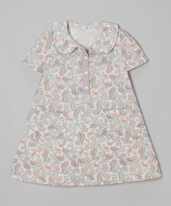 Pink Paisley Peter Pan Dress - Toddler & Girls