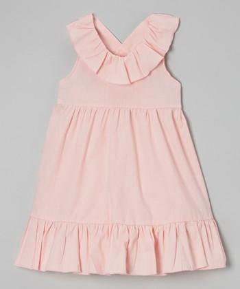 Pink Ruffle Maxi Dress - Toddler & Girls