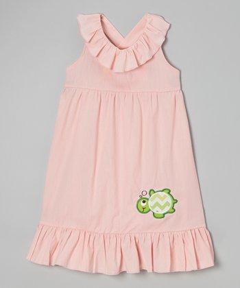 Pink Turtle Maxi Dress - Toddler & Girls