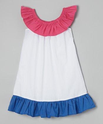 Red Ruffle Yoke Dress - Toddler & Girls