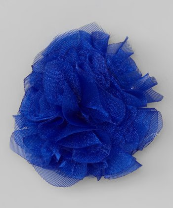 Blue Shabby Flower Clip