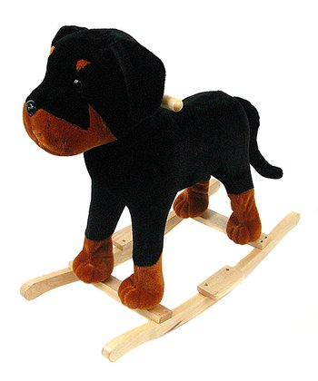 Black Dog Plush Rocker