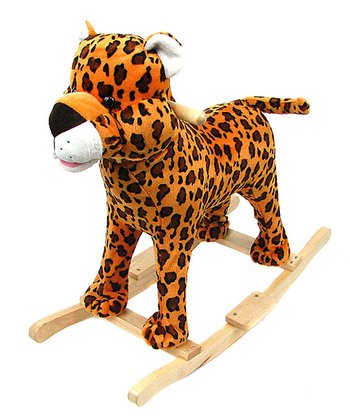 Cheetah Plush Rocker