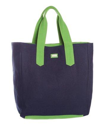 Ame & Lulu Navy & Grass Beach Bag
