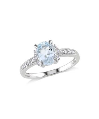 Diamond & Aquamarine Statement Ring