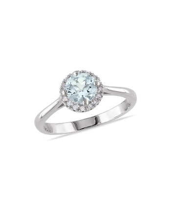 Diamond & Aquamarine Radiance Ring