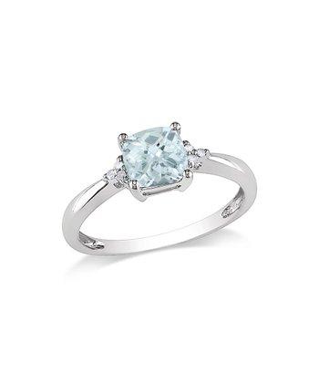 Diamond & Aquamarine Sparkle Ring