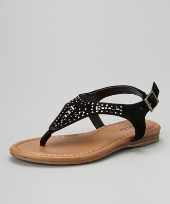 Black Embellished Sandal