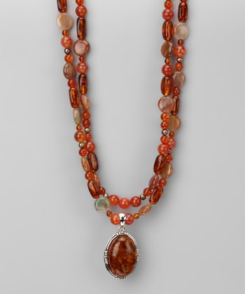 Amber Double-Strand Necklace