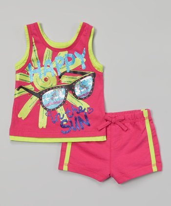 Weeplay Kids Fuchsia 'In the Sun' Tank & Shorts - Infant, Toddler & Girls