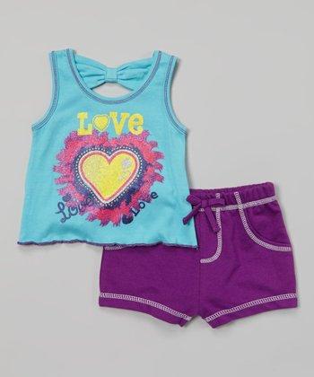 Weeplay Kids Capri 'Love' Heart Tank & Shorts - Infant & Toddler