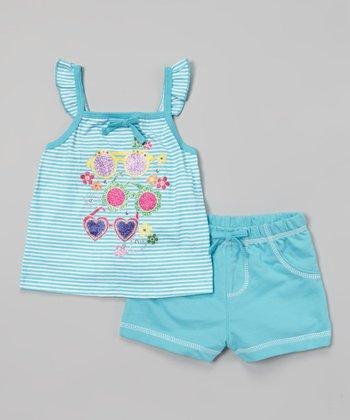 Weeplay Kids Capri Glitter Shades Top & Shorts - Infant, Toddler & Girls