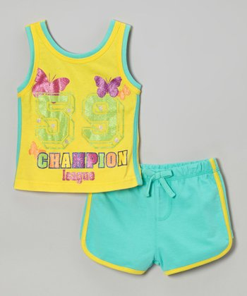 Weeplay Kids Capri 'Champion' Tank & Shorts - Infant, Toddler & Girls